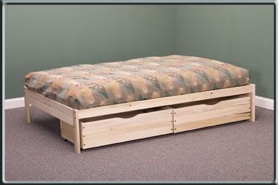 Nomad bed with drawers
